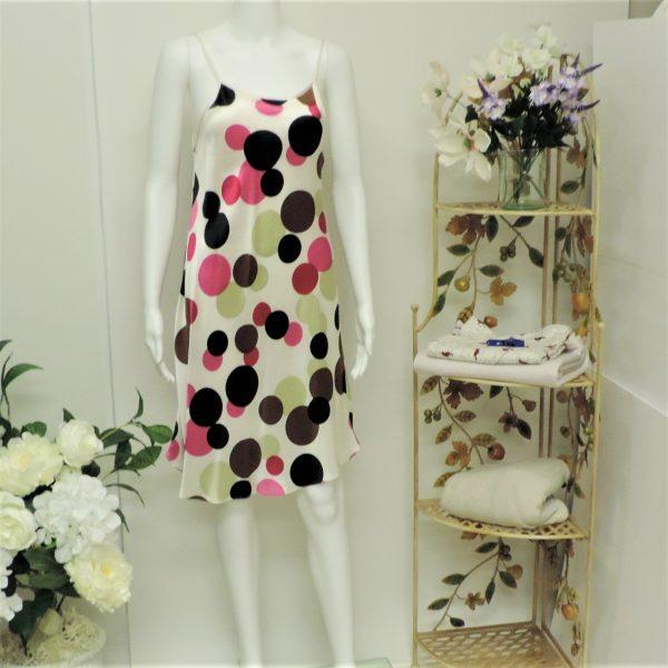 silk polka dots chemise