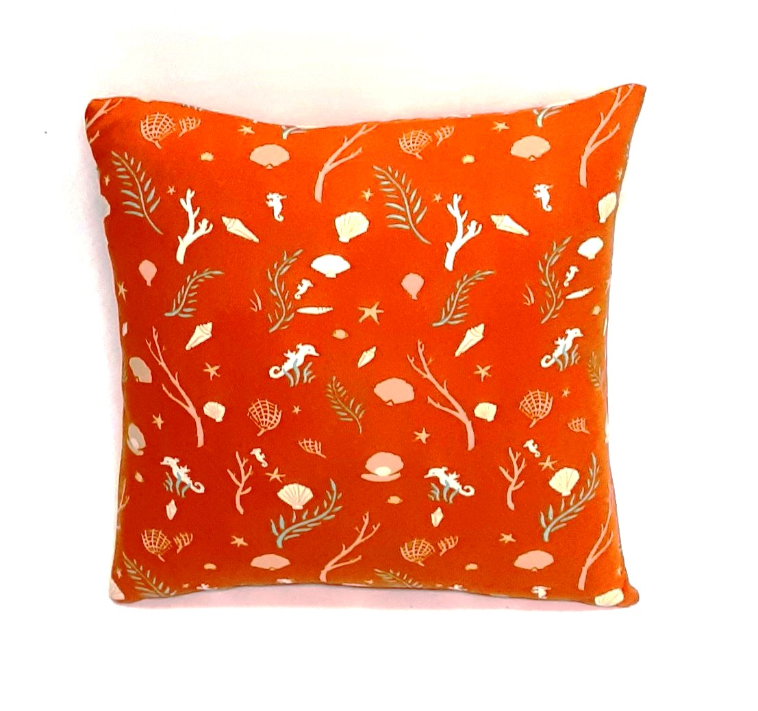 home and living seahorse pillow