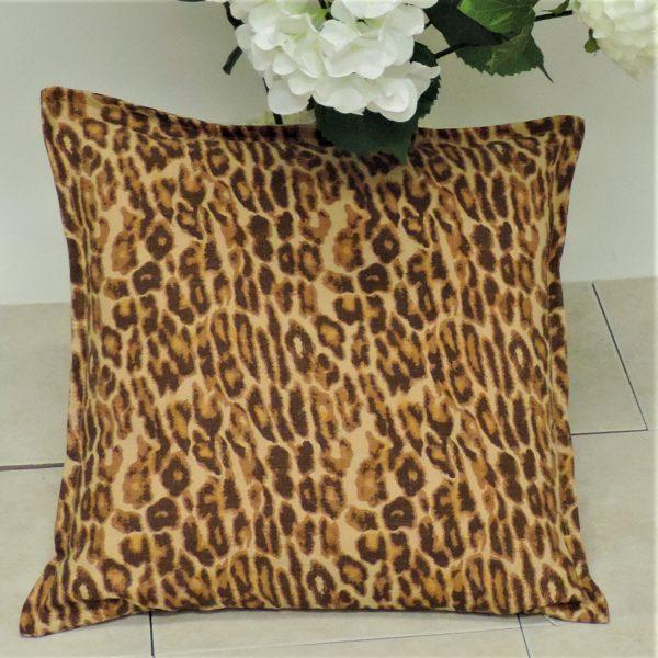 l x leopard pillow cover