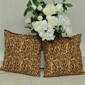 l x leopard pillow cover set